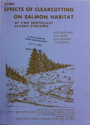 Cover of: Some effects of clearcutting on salmon habitat of two southeast Alaska streams | Institute of Northern Forestry (U.S.)