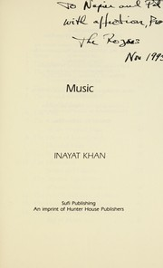 Cover of: Music | Inayat Khan