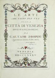 Le arti che vanno per via nella citta di Venezia