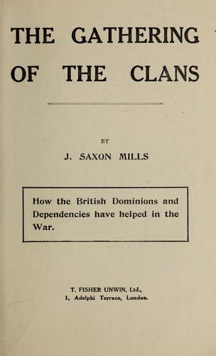 The gathering of the clans by John Saxon Mills