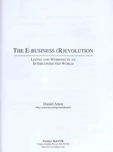 The e-business (r)evolution by Daniel Amor