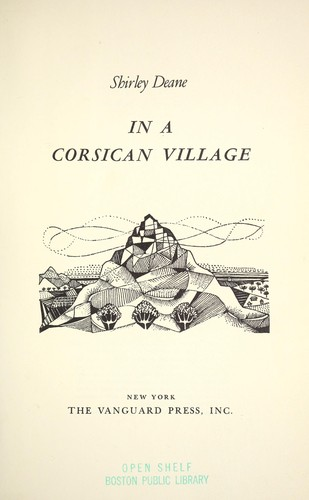 In a Corican village by Shirley Deane