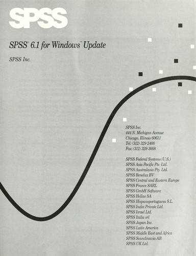 Spss 6.1 for Windows Update (SPSS for Windows 6.1) by SPSS Inc.