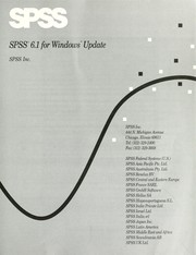 Cover of: Spss 6.1 for Windows Update (SPSS for Windows 6.1) | SPSS Inc.