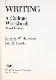 Cover of: Writing by James A. W. Heffernan