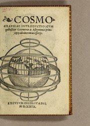 Cover of: Cosmographiae introductio | Peter Apian