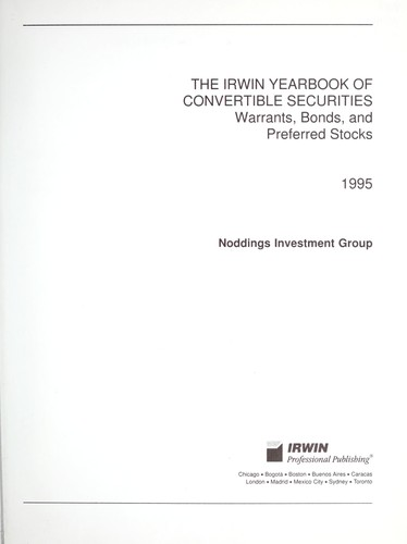 The Irwin Yearbook of Convertible Securities by Amy E. Lund