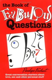 Cover of: The Book of Fabulous Questions | Penelope Frohart