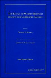 Cover of: Essays | Warren Buffett