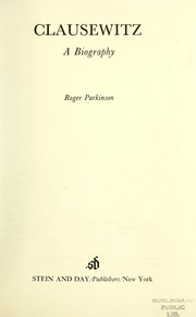 Cover of: Clausewitz | Parkinson, Roger.
