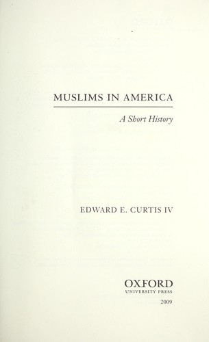 Muslims in America by Edward E. Curtis