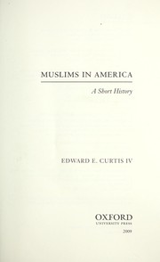 Cover of: Muslims in America | Edward E. Curtis