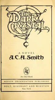 Cover of: The dark crystal : a novel by