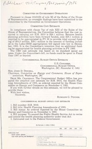 Cover of: Health planning amendments of 1985 | United States. Congress. House. Committee on Energy and Commerce