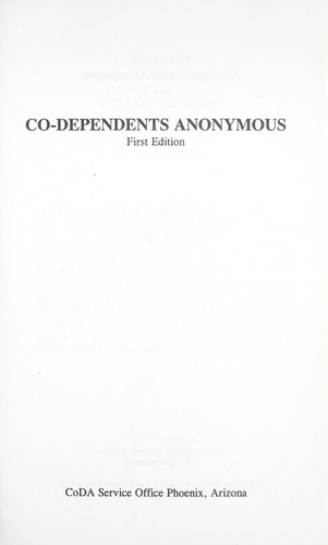 Co-dependents Anonymous by coda