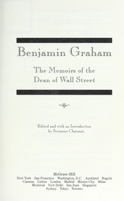 Cover of: The memoirs of the dean of Wall Street | Benjamin Graham