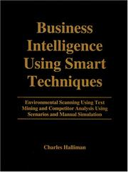 Cover of: Business intelligence using smart techniques | Charles Halliman