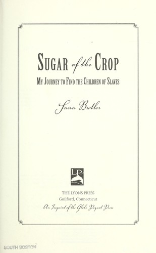 Sugar of the crop by Sana Butler