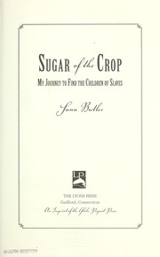Cover of: Sugar of the crop | Sana Butler