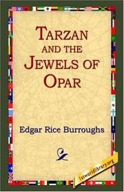 Cover of: Tarzan and the Jewels of Opar | Edgar Rice Burroughs