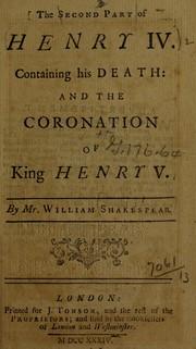 King Henry IV. Part 2