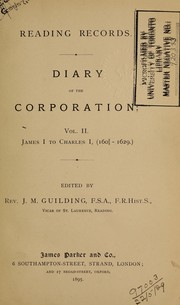 Cover of: Reading Records: Diary of the Corporation by J. M. Guilding