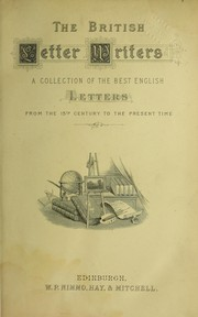 Cover of: The British letter writers by Robert Cochrane
