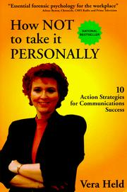 Cover of: How Not to Take It Personally by Vera N. Held