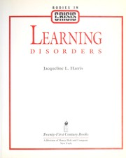 Cover of: Learning disorders by Jacqueline L. Harris