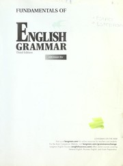 Cover of: Fundamentals of English grammar by Betty Schrampfer Azar
