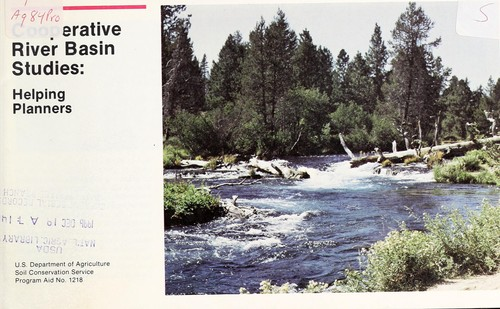 Cooperative river basin studies by United States. Soil Conservation Service