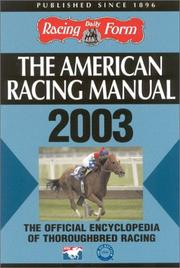 Cover of: The American Racing Manual 2003 | Steve Davidowitz