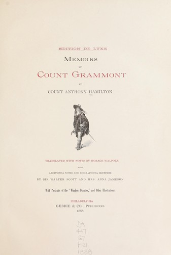 Memoirs of Count Grammont by Count Anthony Hamilton