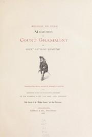Cover of: Memoirs of Count Grammont | Count Anthony Hamilton