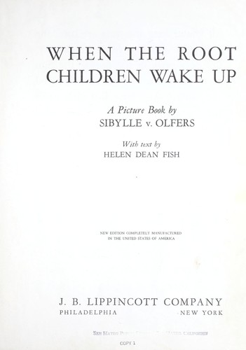 When the root children wake up by Helen Dean Fish