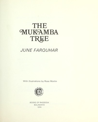 The mukamba tree by June Farquhar