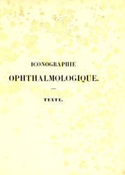 Cover of: Iconographie ophthalmologique | J. Sichel