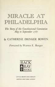 Cover of: Miracle at Philadelphia | Catherine Drinker Bowen
