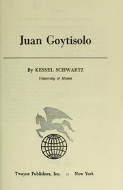 Cover of: Juan Goytisolo by Kessel Schwartz