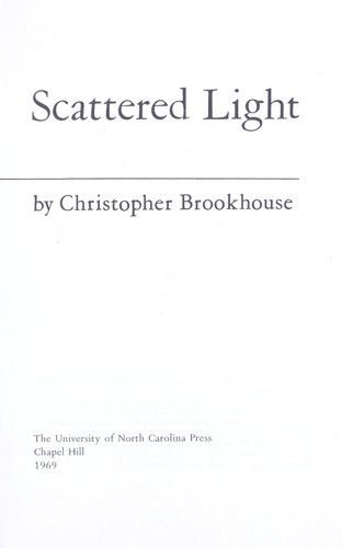 Scattered light by Christopher Brookhouse