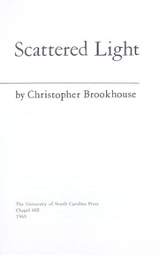 Cover of: Scattered light | Christopher Brookhouse