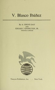 Cover of: V. Blasco Ibáñez | A. Grove Day