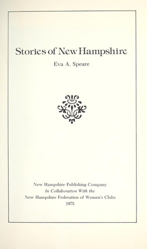 Stories of New Hampshire by Eva A. Speare