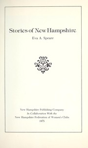 Cover of: Stories of New Hampshire by Eva A. Speare