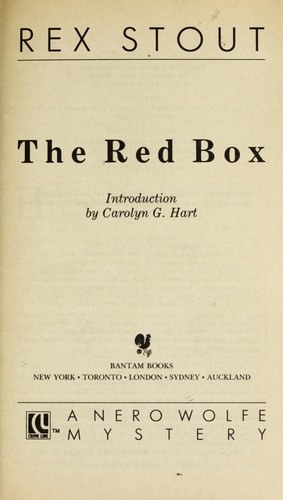 Red Box, The by Rex Stout