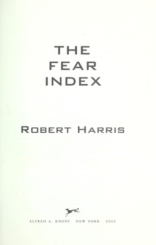 The fear index by Harris, Robert