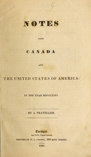 Cover of: Notes upon Canada and the United States of America by Henry Cook Todd