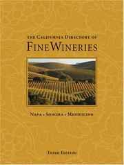 Cover of: The California Directory of Fine Wineries by Marty Olmstead