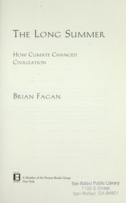 Cover of: The long summer | Brian M. Fagan
