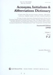 Cover of: Acronyms, Initialisms and Abbreviations Dictionary, 1989 (Acronyms, Initialisms & Abbreviations Dictionary, A-F (Vol.1)) | Mossman